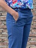 Mieke stone jeans broek met elastiek_