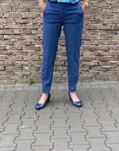 Mieke stone jeans broek met elastiek